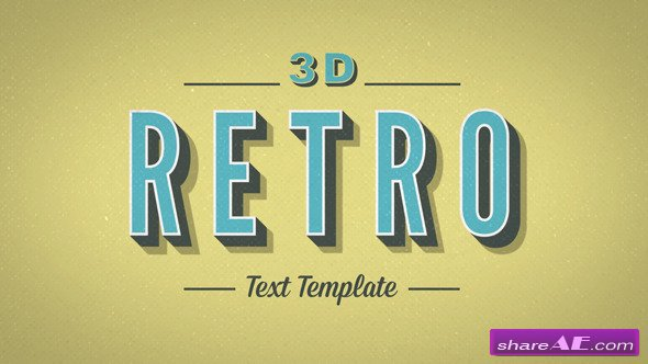 Videohive 3D Retro Kinetic Typography - After Effects Projects