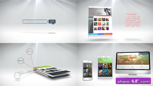 videohive website presentation 7668630 - after effects projects, Presentation templates
