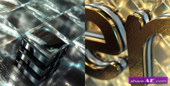 Videohive Gold & Black Crystallized Glass Logo Reveal - After Effects Projects