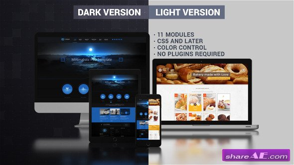Videohive Website Presentation (Dark & Light) - After Effects Project