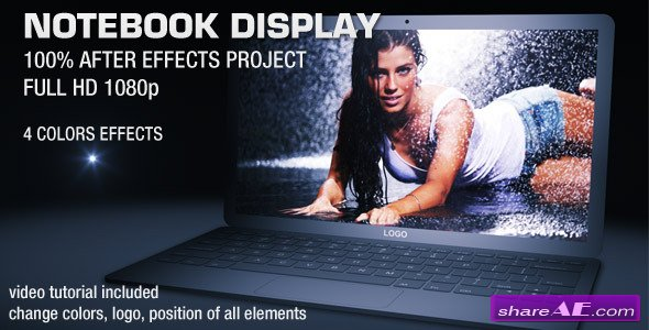Videohive Notebook Display - After Effects Project