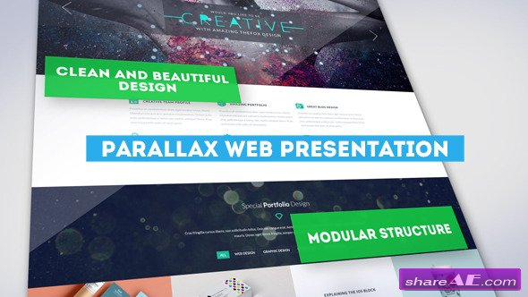 Videohive Parallax Web Presentation - After Effects Project