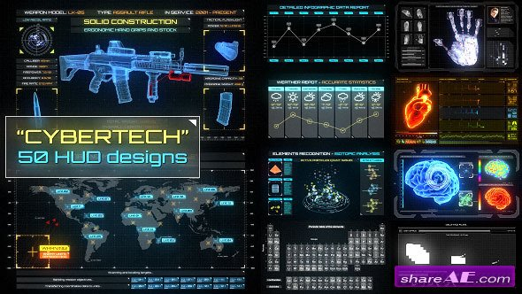 Videohive CyberTech HUD Infographic Pack - After Effects Project