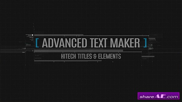 Videohive Advanced Text Maker - After Effects Project