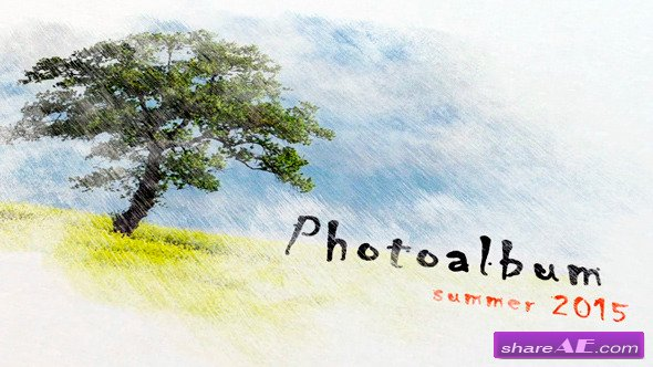 Videohive Pencil Watercolor Photo Album - After Effects Project