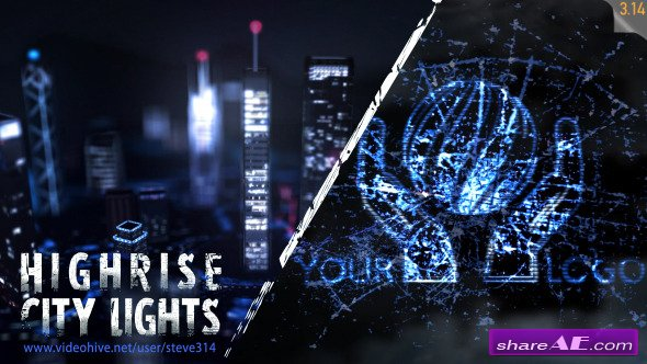 Videohive Highrise City Lights - Logo Intro - After Effects Project