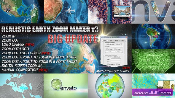 Videohive Earth Zoom Pro - After Effects Project