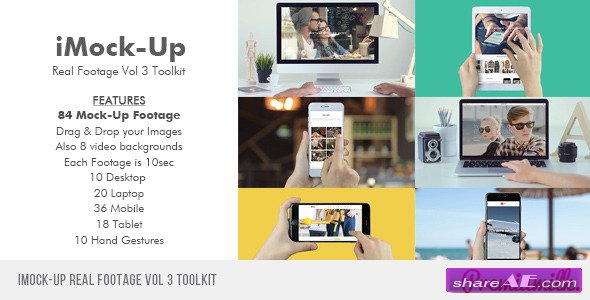 Videohive iMock-Up Real Footage Vol 3 Toolkit - After Effects Project