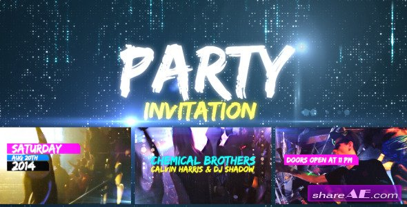 Videohive Party Invitation - After Effects Project