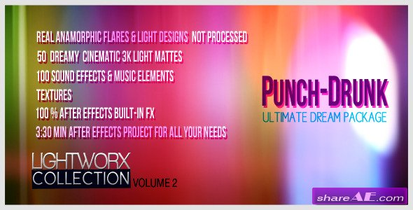 Videohive Punch-drunk: Dreampack! LightWorX Collection V2 - After Effects Project