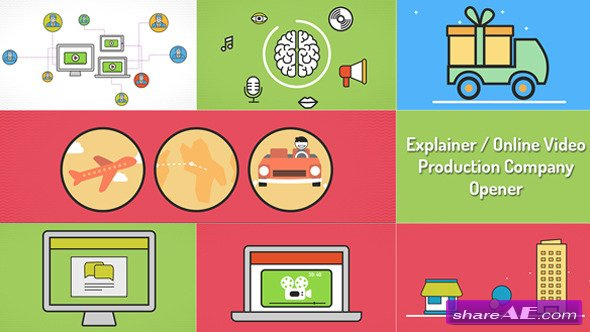 Videohive Explainer Video Production Opener - After Effects Project