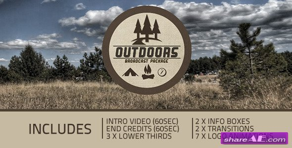 Videohive Outdoors Broadcast package - After Effects Project