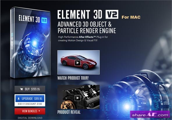 Element 3D v.2.2 (MAC) - Video Copilot