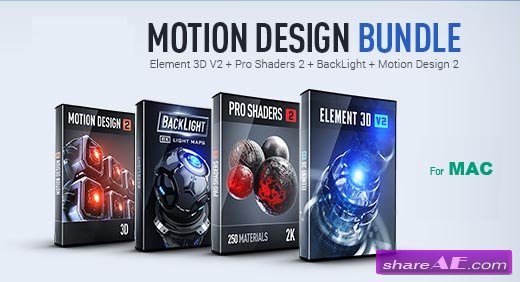 Pro Shaders 2 + BackLight + Motion Design 2 (MAC) - Video Copilot