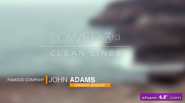 Videohive Lower 3rds - Clean Lines - After Effects Projects