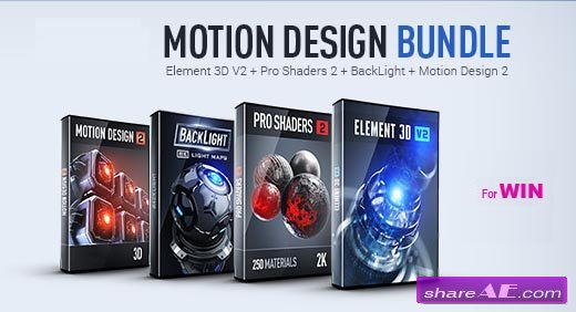 Pro Shaders 2 + BackLight + Motion Design 2 (WIN) - Video Copilot