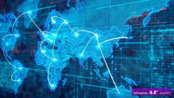 Videohive World Map - Motion Graphics