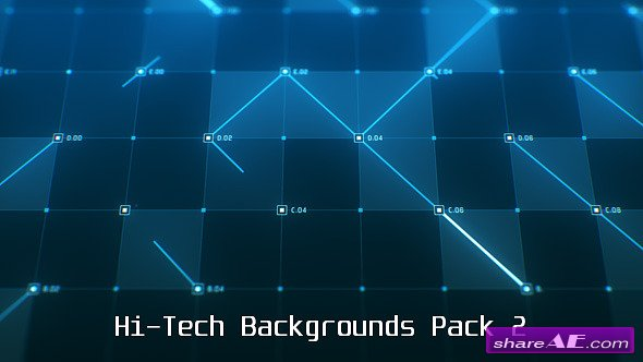 Videohive Hi-Tech Backgrounds Pack 2 - Motion Graphic