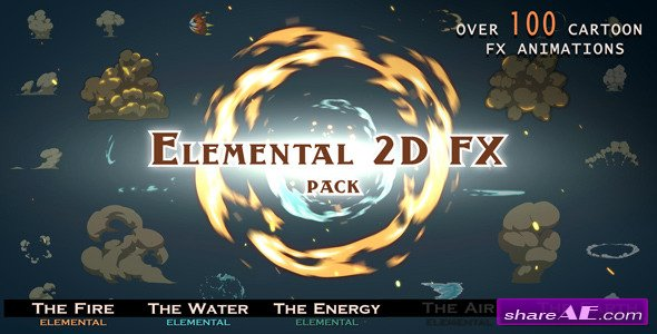 Videohive Elemental 2D FX pack - Motion Graphics