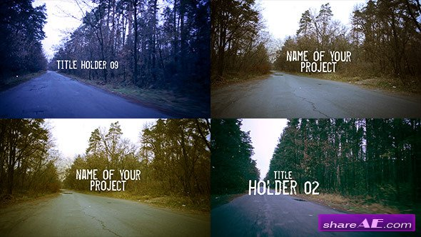 Videohive Road Forest Motion Title - After Effects Project