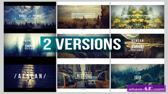 Videohive Photo Intro - After Effects Project