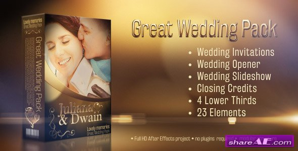 Videohive Wedding Pack - Lovely Memories - After Effects Projects