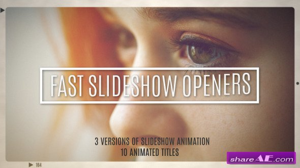 Videohive Fast Slideshow Openers + 10 Titles - After Effects Projects