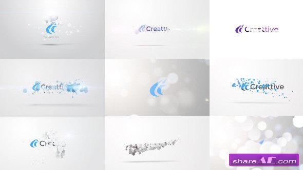 Videohive Quick Logo Sting Pack 06: Clean Particles