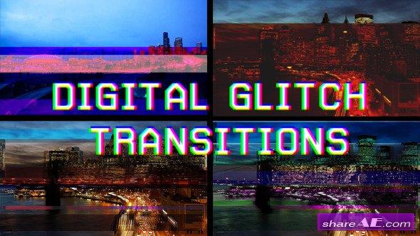 Videohive Digital Glitch Transitions