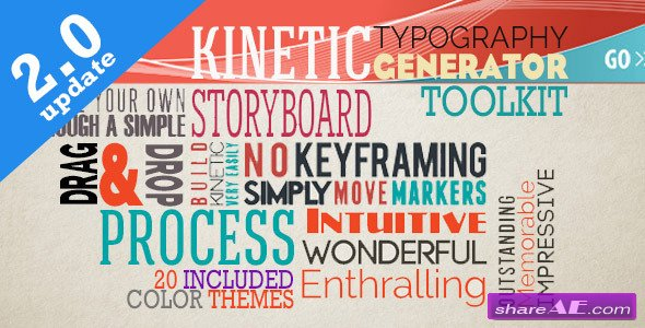 Videohive Kinetic Typography Generator Toolkit