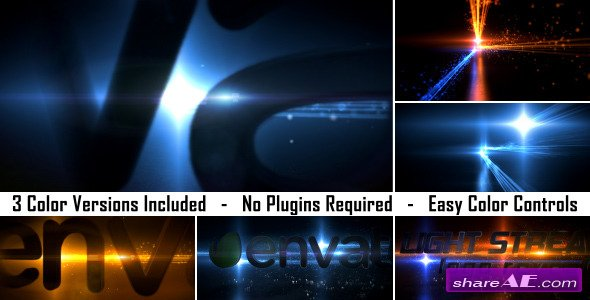 Videohive Light Streaks Logo Reveal