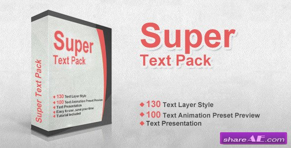 Videohive Super Text Pack - After Effects Preset