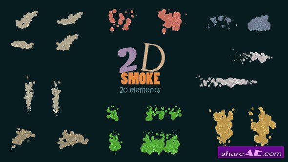 Videohive 2D Smoke Pack