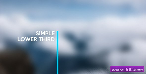 Videohive Simple Lower Thirds - PREMIERE PRO
