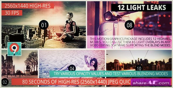 Videohive Light Leaks Pack II - Motion Graphics