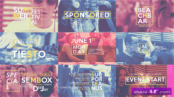Videohive Quick Slideshow Opener | Festival Event Promo