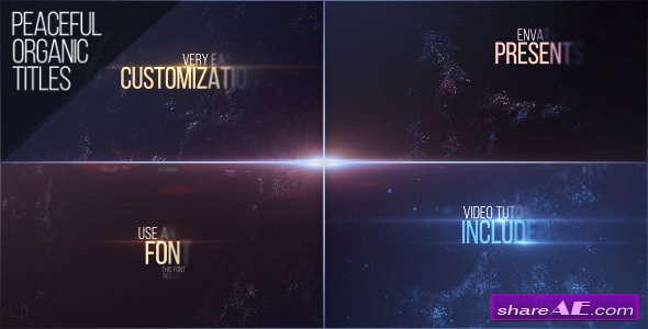 Videohive Peaceful Organic Titles