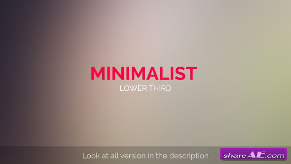 Videohive MInimalist Lower Third » Free After Effects Templates ...
