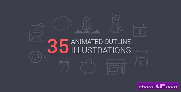Videohive Animated Outline Illustrations