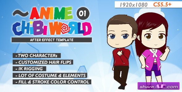 Videohive Anime Chibi World