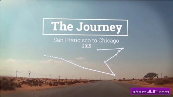 The Journey Map Slideshow - After Effects Projects (Motion Array)