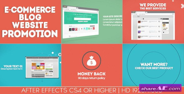 Videohive E-commerce / Blog / Website Promotion
