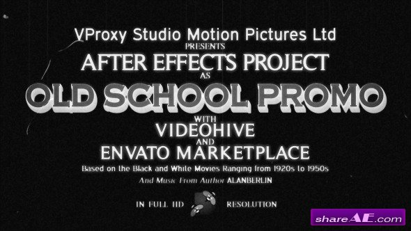 Videohive Old School Promo Pack