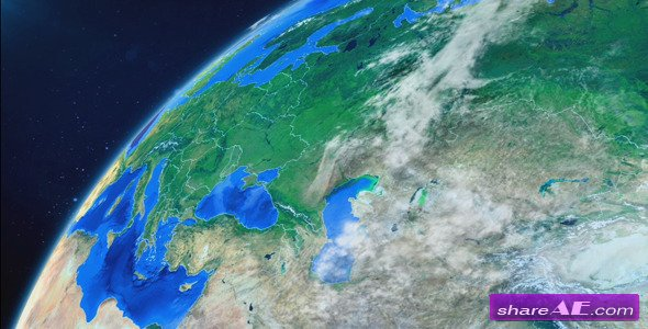 Videohive World Map Earth Zoom