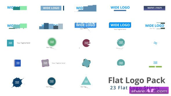 Videohive Flat Logo Pack