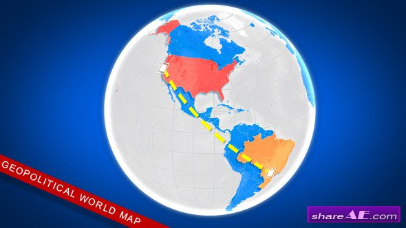 Videohive Geopolitical World Map
