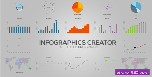 Videohive Flat Design Infographics » free after effects templates
