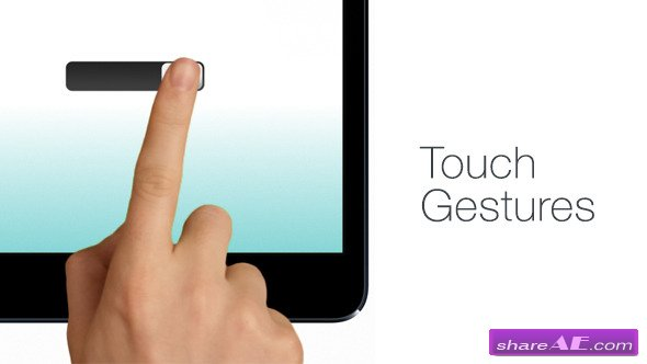 Videohive Hand Touch Gestures - After Effects