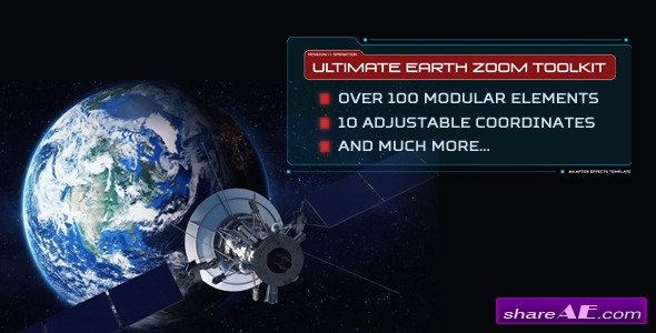 Videohive Ultimate Earth Zoom Toolkit - After Effects Project