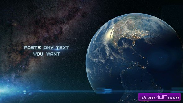 Videohive Space Opening Titles